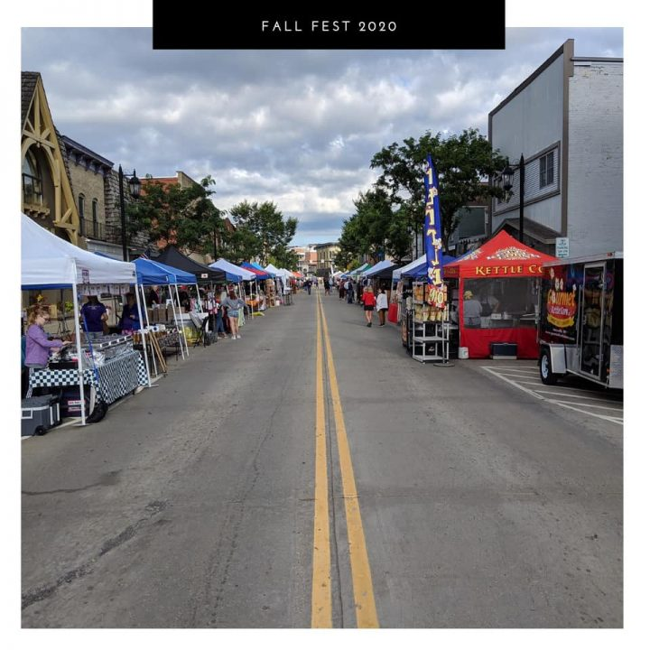 Prepping for Fall Fest in downtown Oconomowoc, Saturday, September 12, 2020