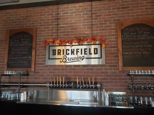 Bar at Brickfield Brewing Company, Grantsburg, Wisconsin