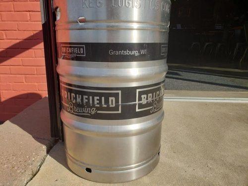Keg at Brickfield Brewing Company, Grantsburg, Wisconsin