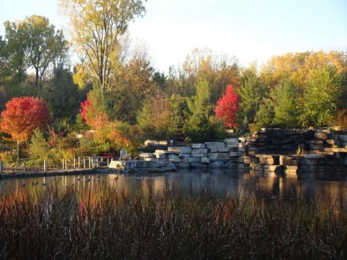 Bay Beach Wildlife Sanctuary in fall, Green Bay, Wisconsin
