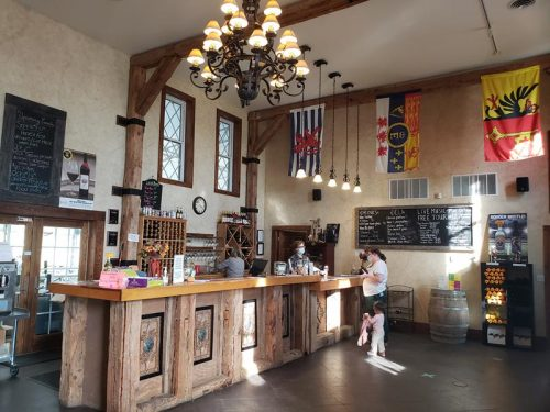 The Tasting Room bar at Chateau St. Croix Winery, St. Croix Falls, Wisconsin