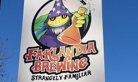 Banner for Faklandia Brewing, St. Francis, Wisconsin