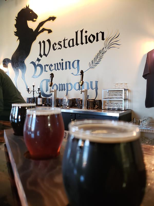 Flight at Westallion Brewing Company, West Allis, Wisconsin