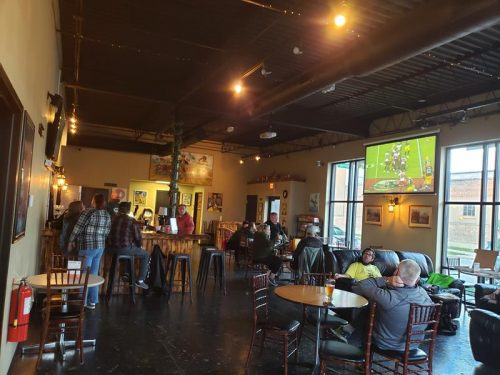 The Tap Room inside Westallion Brewing Company, West Allis, Wisconsin