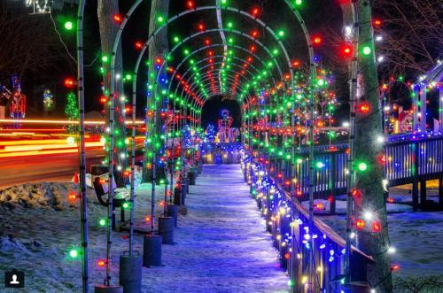Christmas Village at Irvine Park in Chippewa Falls. Photo credit: @jcourn87