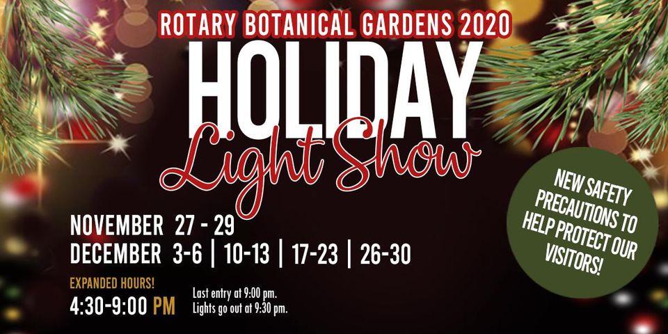 janesville rotary gardens holiday light show 2020 logo - Holiday Light Show Rotary Botanical Gardens December 22