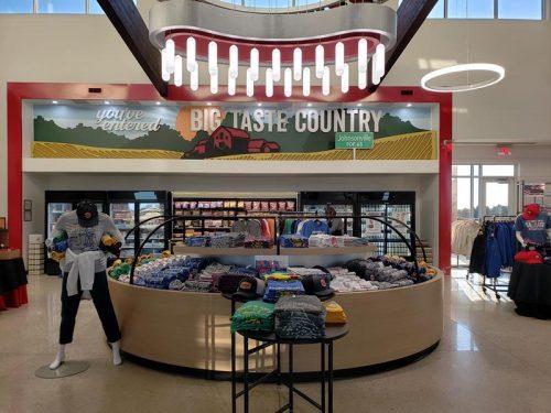 Inside Johnsonville Marketplace just outside Sheboygan Falls, Wisconsin