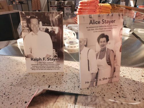 Ralph & Alice Stayer started Johnsonville and their history (and plenty of products) can be found at the Johnsonville Marketplace outside Sheboygan Falls, Wisconsin