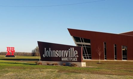 Johnsonville Marketplace with the soon-to-be-legendary BRAT sculpture, along County J north of Sheboygan Falls, Wisconsin