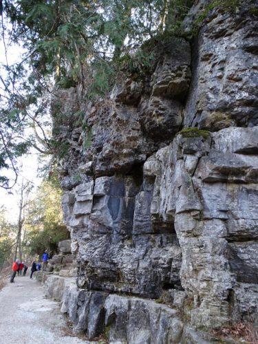 Outcroppings along the Niagara Escarpment at Maribel Caves County Park, Maribel, Wisconsin