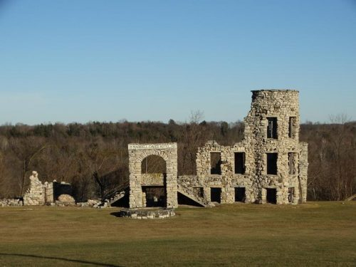 What's left of the Maribel Caves Hotel, along old US 141/County R in Maribel, Wisconsin