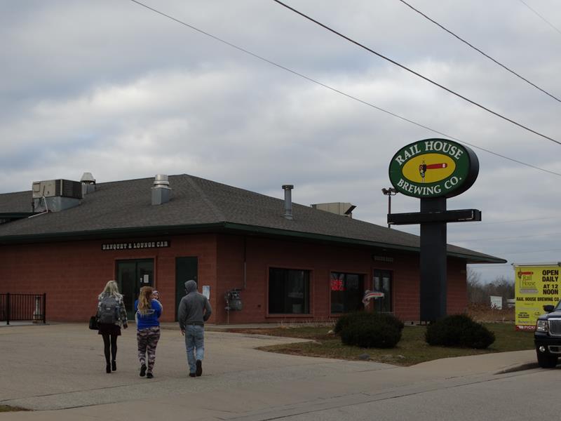 Rail House Brewing Company along U.S. 41, Marinette, Wisconsin