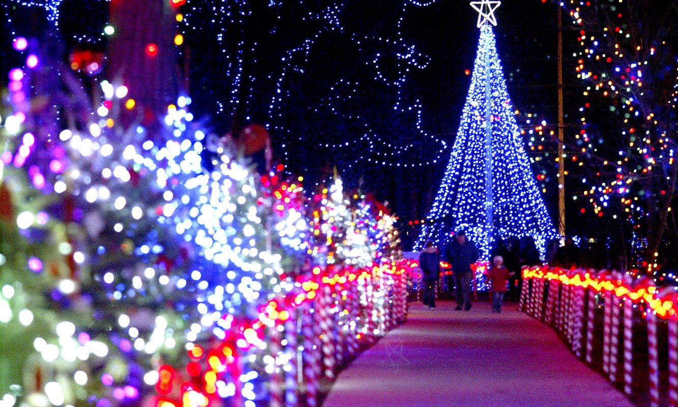 Marshfield Rotary Winter Wonderland lights in Marshfield, Wisconsin