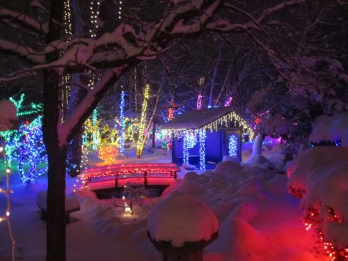 Janesville Holiday Lights at Rotary Botanical Gardens. Photo credit: Rotary Botanical Gardens