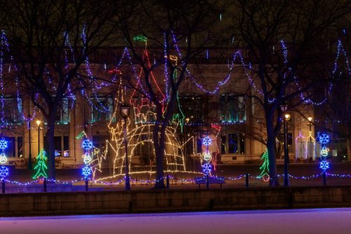 Downtown Milwaukee Holiday Lights at Pere Marquette Park