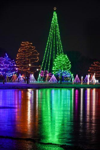 Oshkosh Celebration of Lights along Lake Winnebago, Oshkosh, Wisconsin