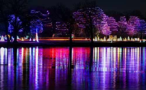 Celebration of Lights along Lake Winnebago in Oshkosh, Wisconsin
