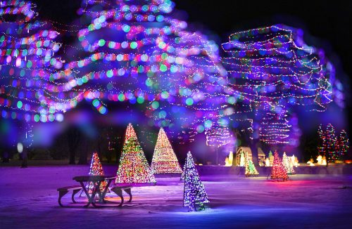 Celebration of Lights in Menominee Park, Oshkosh, Wisconsin