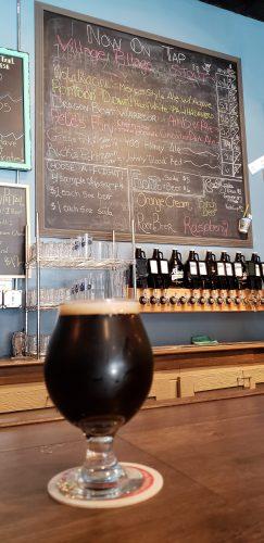 A beer at Racine Brewing Company, along Highway 32/Main Street in Racine, Wisconsin