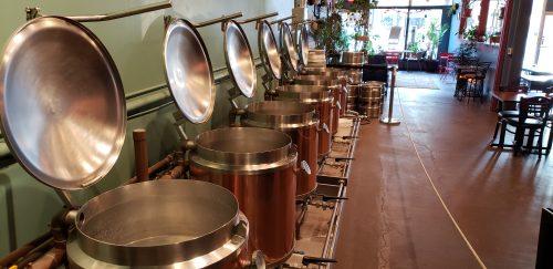 Kettles at Racine Brewing Company in Racine, Wisconsin