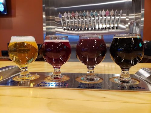 Colorful, flavorful flight at Ahnapee Brewery in Suamico, Wisconsin