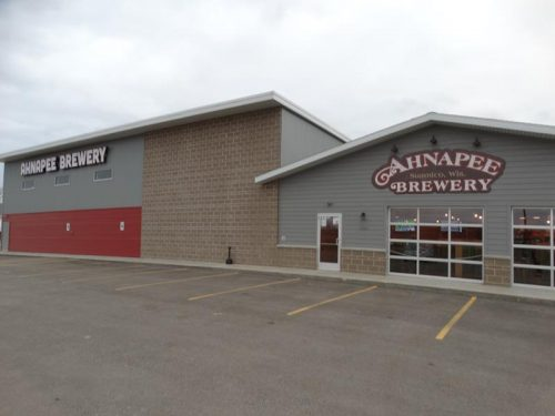 Ahnapee Brewery along I-41/US 141 in Suamico, Wisconsin