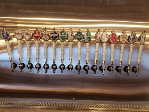Taps at Ahnapee Brewery in Suamico, Wisconsin