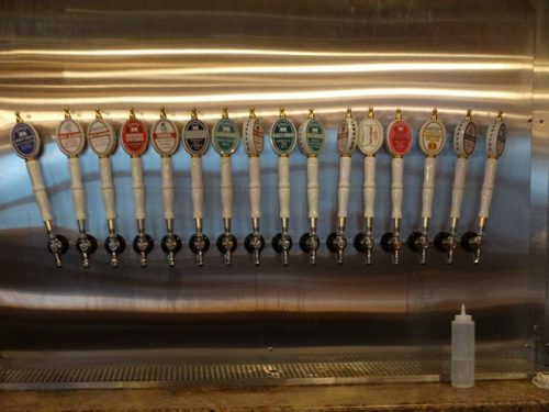 Taps at Ahnapee Brewery, Suamico, Wisconsin