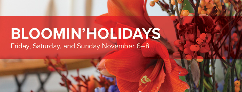 Bloomin' Holidays at the Museum of Wisconsin Art, November 6-8, 2020 in West Bend, Wisconsin