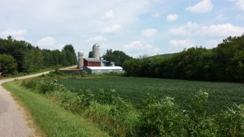 Farm in Wisconsin's Driftless Area, just off Highway 80 outside Elroy