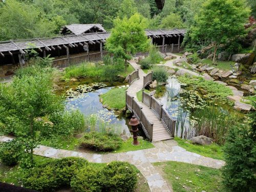 Japanese-influenced gardens at House on the Rock in Spring Green, Wisconsin