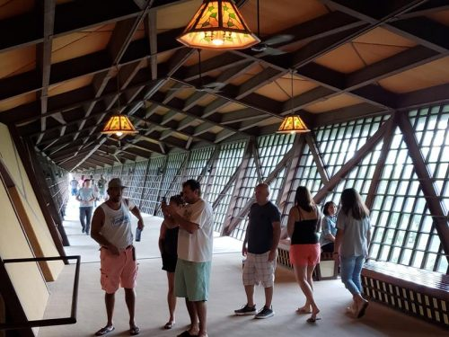 People checking out the Infinity Room at House on the Rock, Spring Green, Wisconsin