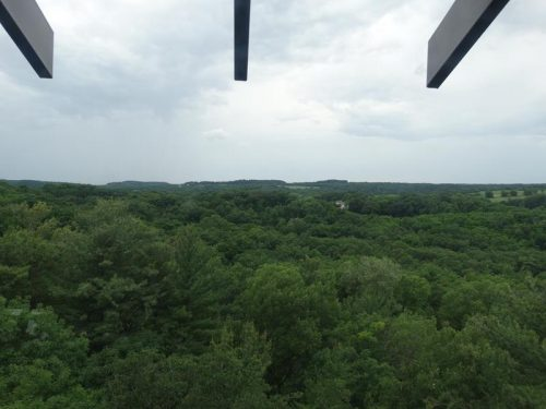 View of the Wyoming Valley from the Infinity Room at House on the Rock, Spring Green, Wisconsin