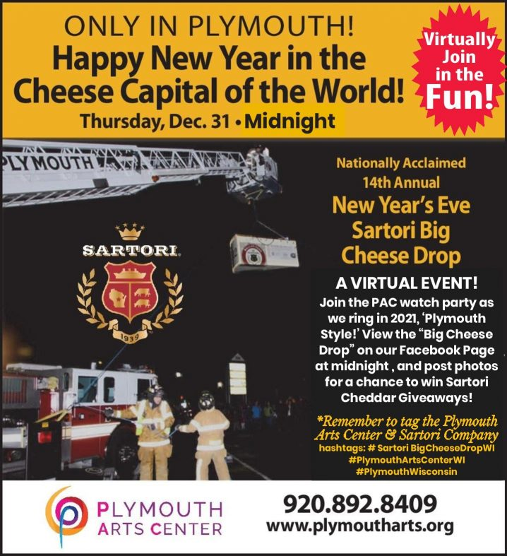 Plymouth New Year's Eve Cheese Drop 2020, a virtual event