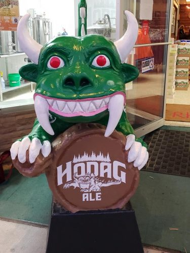 The Hodag, Rhinelander's iconic symbol and the mascot for Hodag Brewing in Rhinelander, Wisconsin