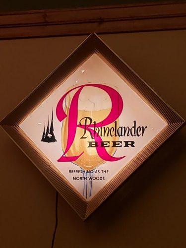 Old school classic sign at Rhinelander Brewing Company, Rhinelander, Wisconsin