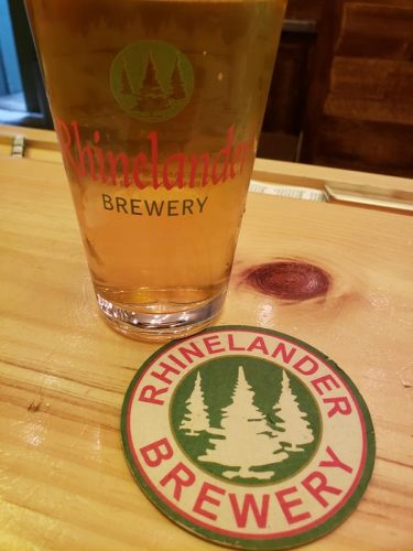 A pint at Rhinelander Brewery in downtown Rhinelander, Wisconsin