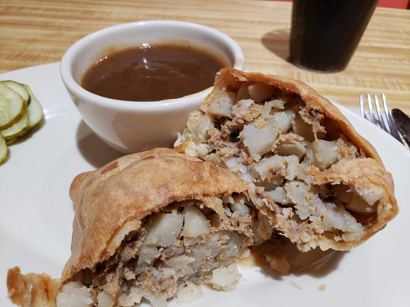 A U.P. pasty at Syl's Cafe, Ontonagon, Michigan