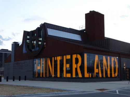 Hinterland's brewery and tap room in the Titletown District across from Lambeau Field in Green Bay, Wisconsin