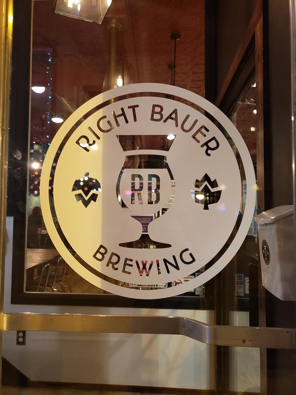 Right Bauer Brewing, Sun Prairie, Wisconsin, along Highway 19