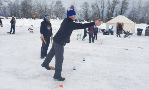 Kubb at the Lake Superior Ice Festival, Superior, Wisconsin