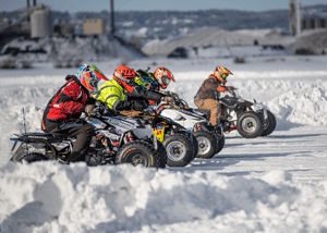 Racing at the Lake Superior Ice Festival, Superior, Wisconsin