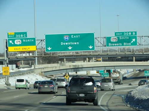 """On February 3, 2021, new signs started going up for the former Miller Park Way exit off I-94, indicating Highway 175 does indeed continue south, and the new name is """"Brewers Blvd."""""""