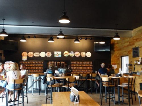 Inside the sizable Tap Room at Bloomer Brewing Company, Bloomer, Wisconsin