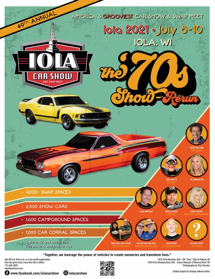 Iola Car Show & Swap Meet, July 8-10, 2021