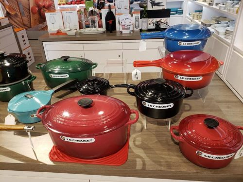 Le Creuset cookware at Johnson Creek Premium Outlets