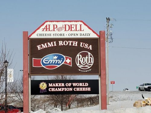 Alp & Dell Cheese Shop, Monroe, Wisconsin, where Highway 11/81 and 69 meet