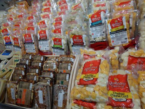 Curd selections at Shullsburg Cheese Store, Shullsburg, Wisconsin