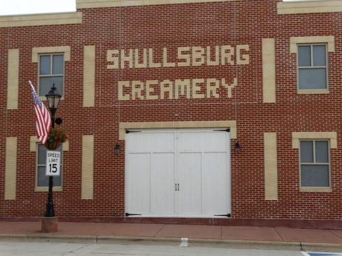 Shullsburg Creamery building in Shullsburg, Wisconsin