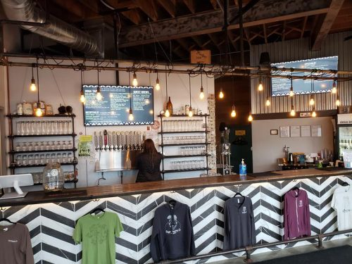 Bar at the Tap Room in Ooga Brewing Company, Beaver Dam, Wisconsin